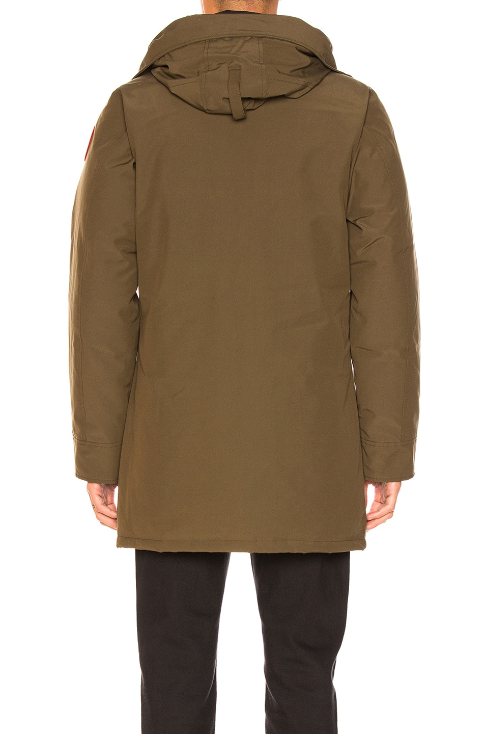 Image 5 of Canada Goose Langford Coyote Fur Trim Parka in Military Green