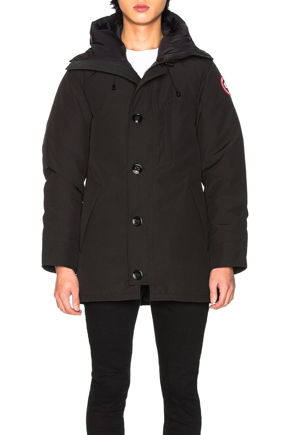 Image 2 of Canada Goose Chateau Non Fur Parka in Black