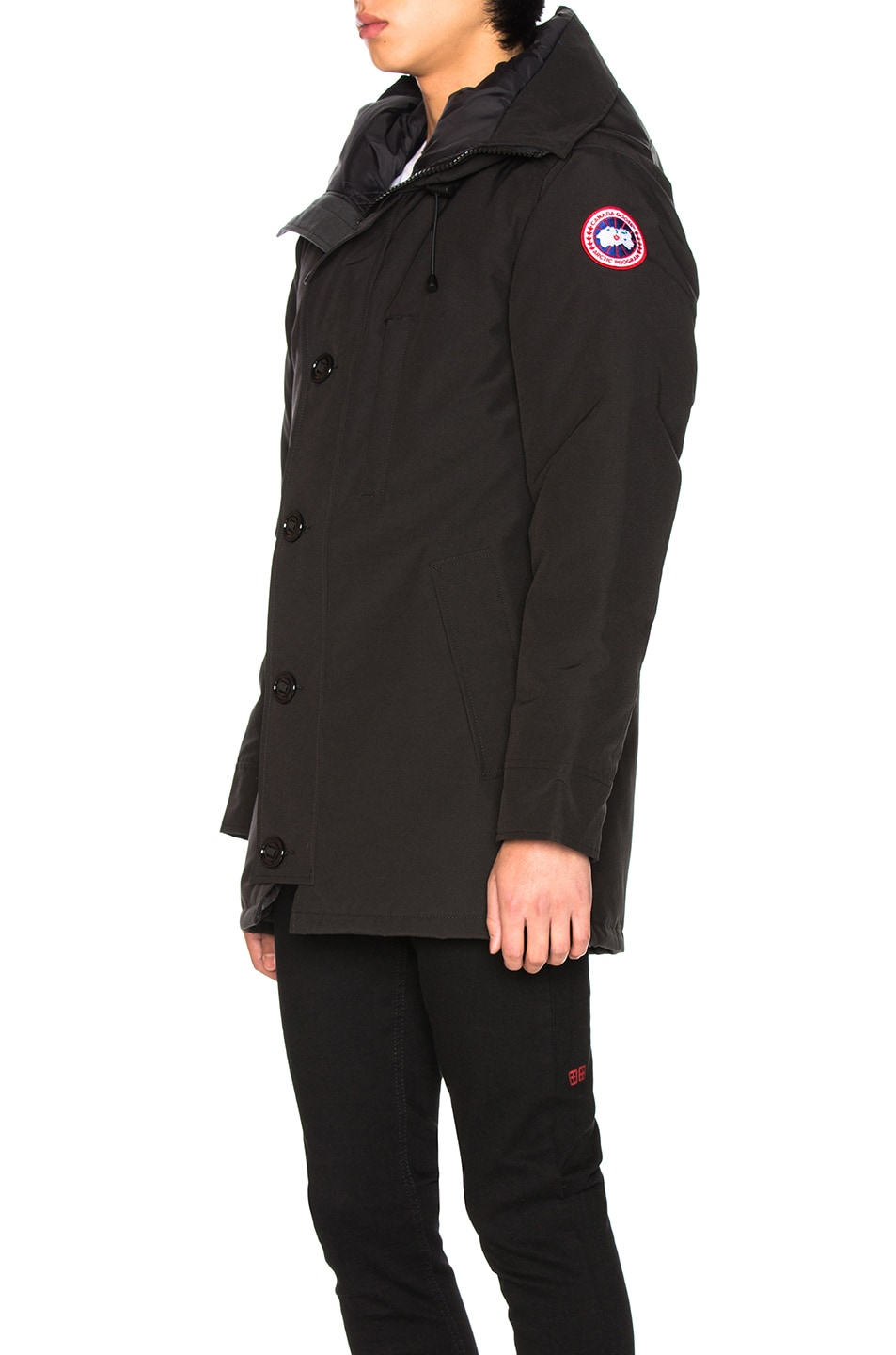 Image 4 of Canada Goose Chateau Non Fur Parka in Black