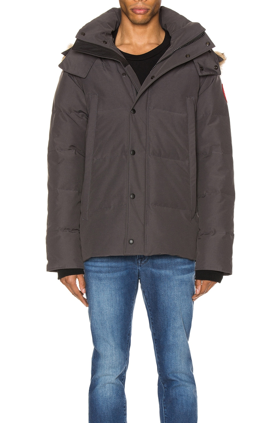 Image 2 of Canada Goose Wyndham Parka in Graphite