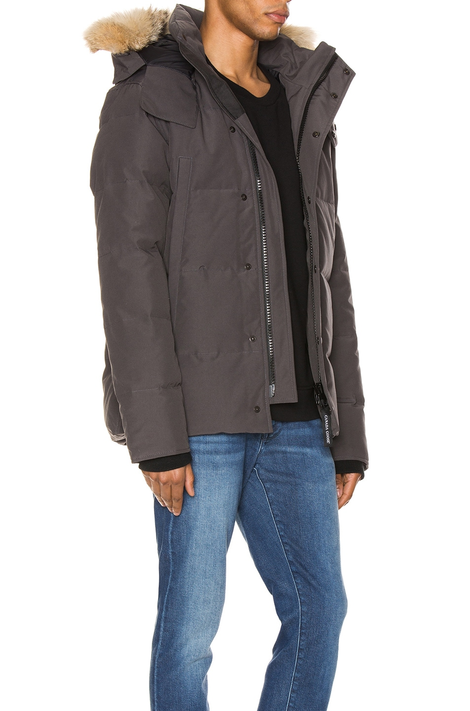 Image 3 of Canada Goose Wyndham Parka in Graphite