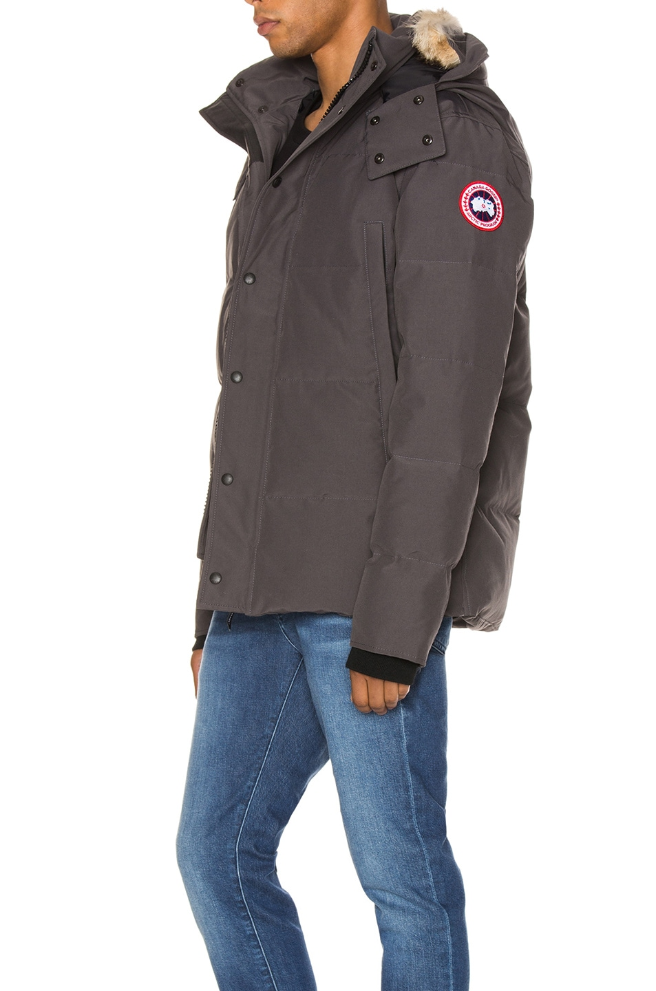 Image 4 of Canada Goose Wyndham Parka in Graphite