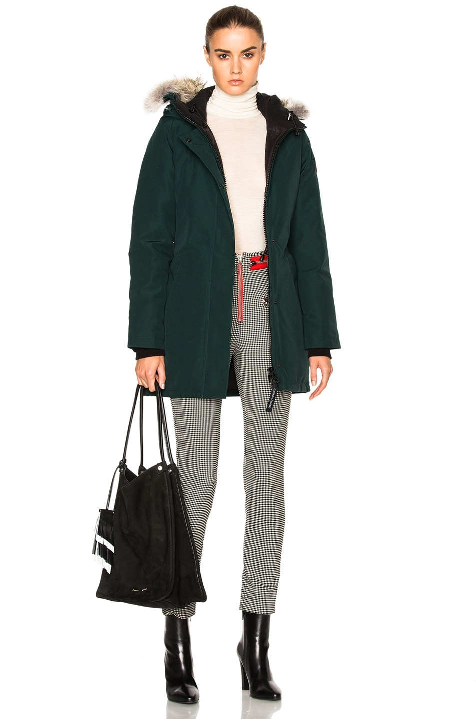 Image 1 of Canada Goose Victoria Parka with Coyote Fur in Alonquin Green