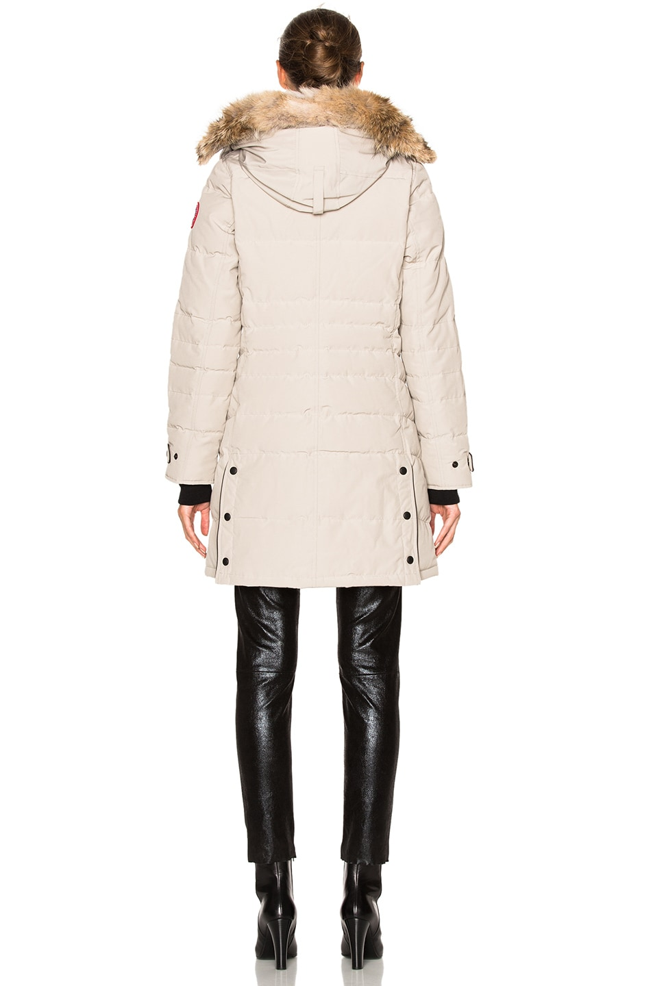 Image 6 of Canada Goose Lorette Parka with Coyote Fur in Limestone