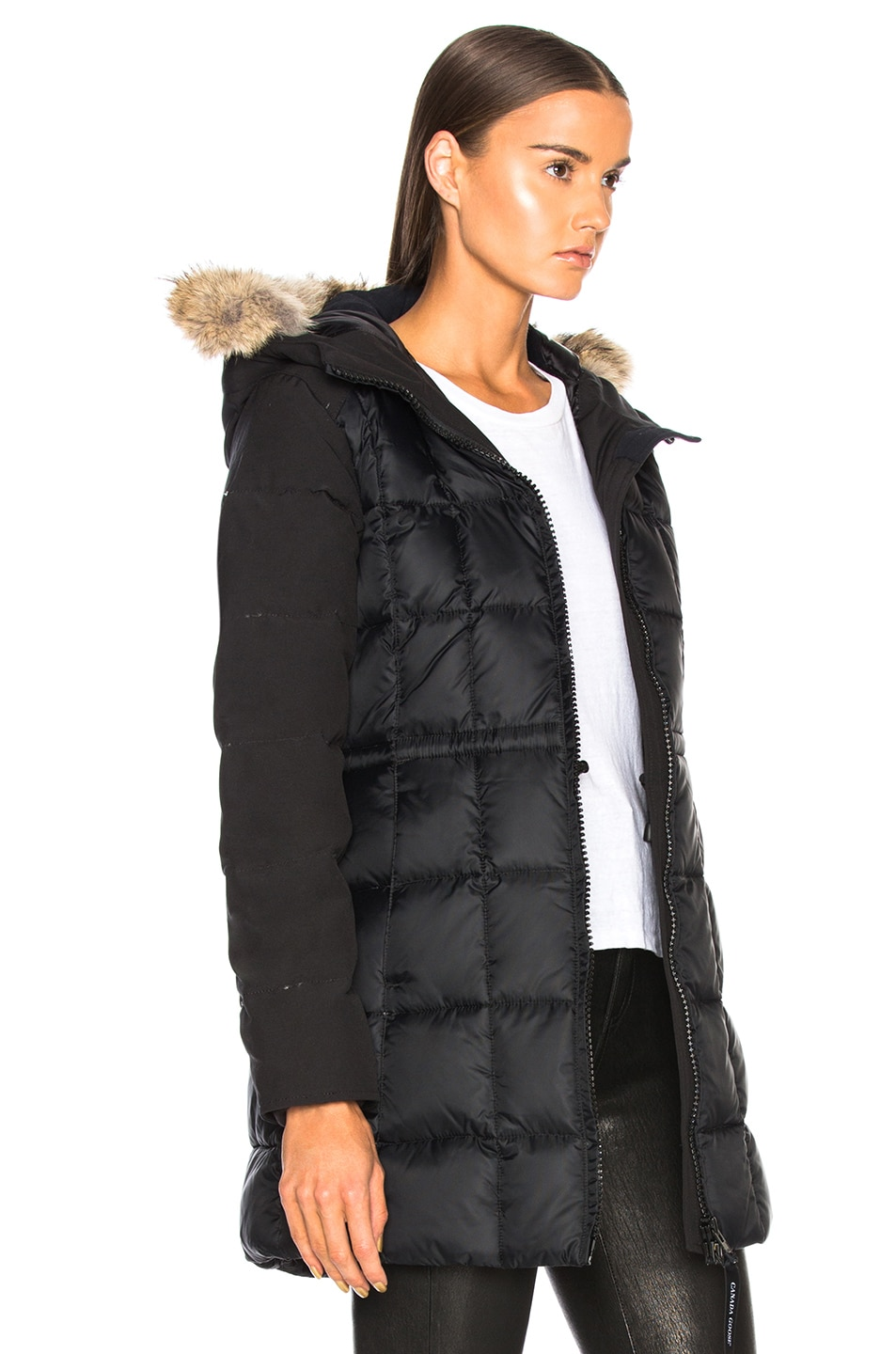 Image 3 of Canada Goose Beechwood Parka With Coyote Fur in Black