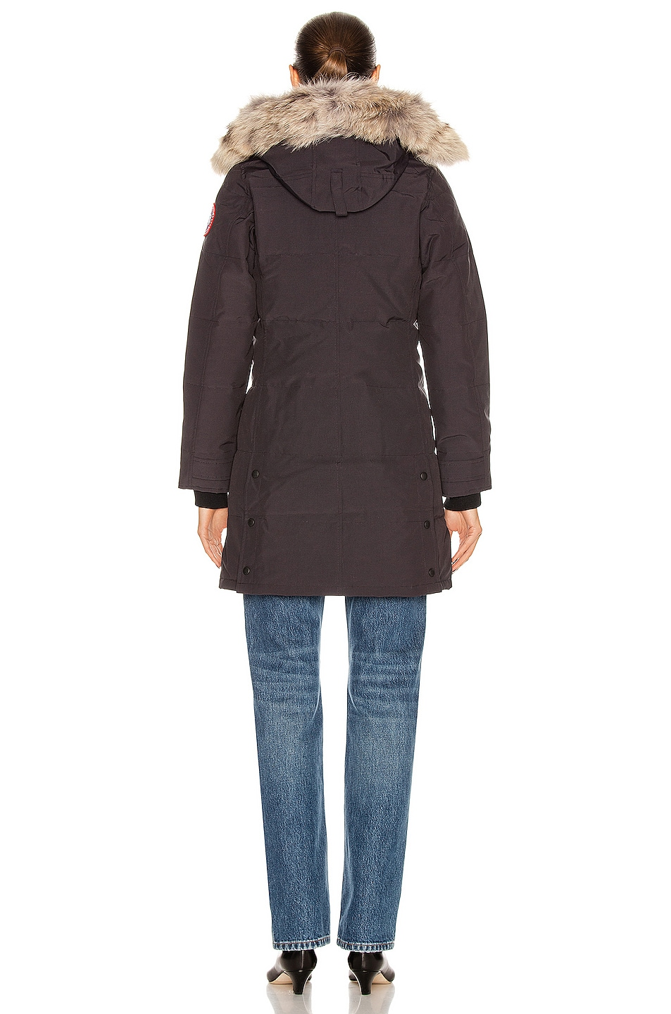 Image 5 of Canada Goose Shelburne Parka with Coyote Fur in Navy