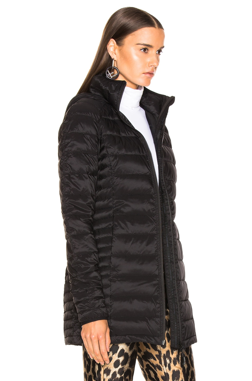 Image 3 of Canada Goose Brookvale Hooded Coat in Black