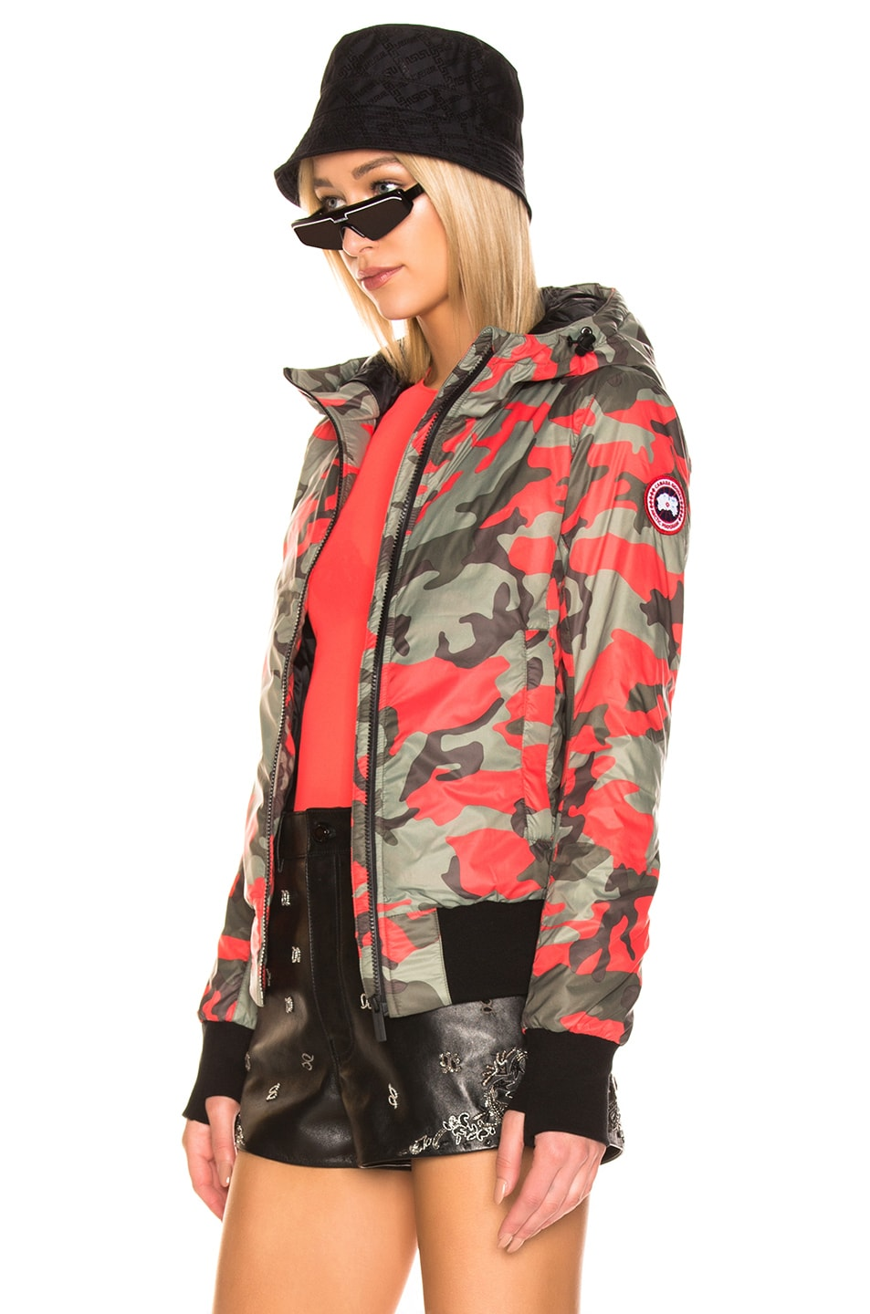 Image 4 of Canada Goose Dore Hoody in Fire Bud Camo