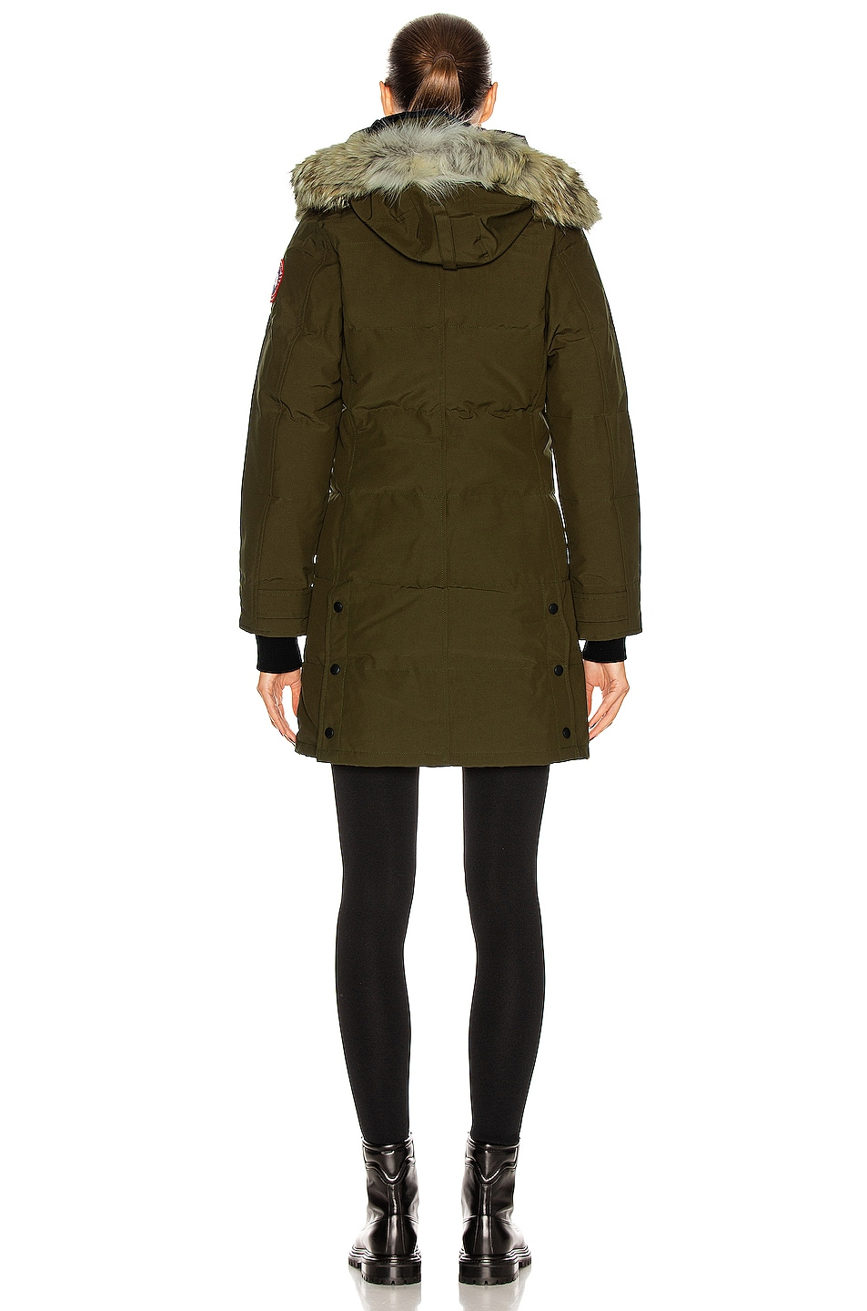 Image 5 of Canada Goose Shelburne Parka with Coyote Fur in Military Green