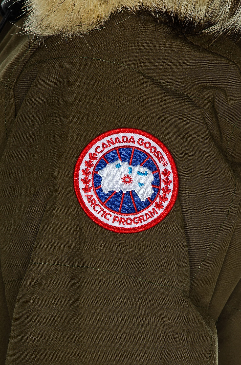 Image 6 of Canada Goose Shelburne Parka with Coyote Fur in Military Green