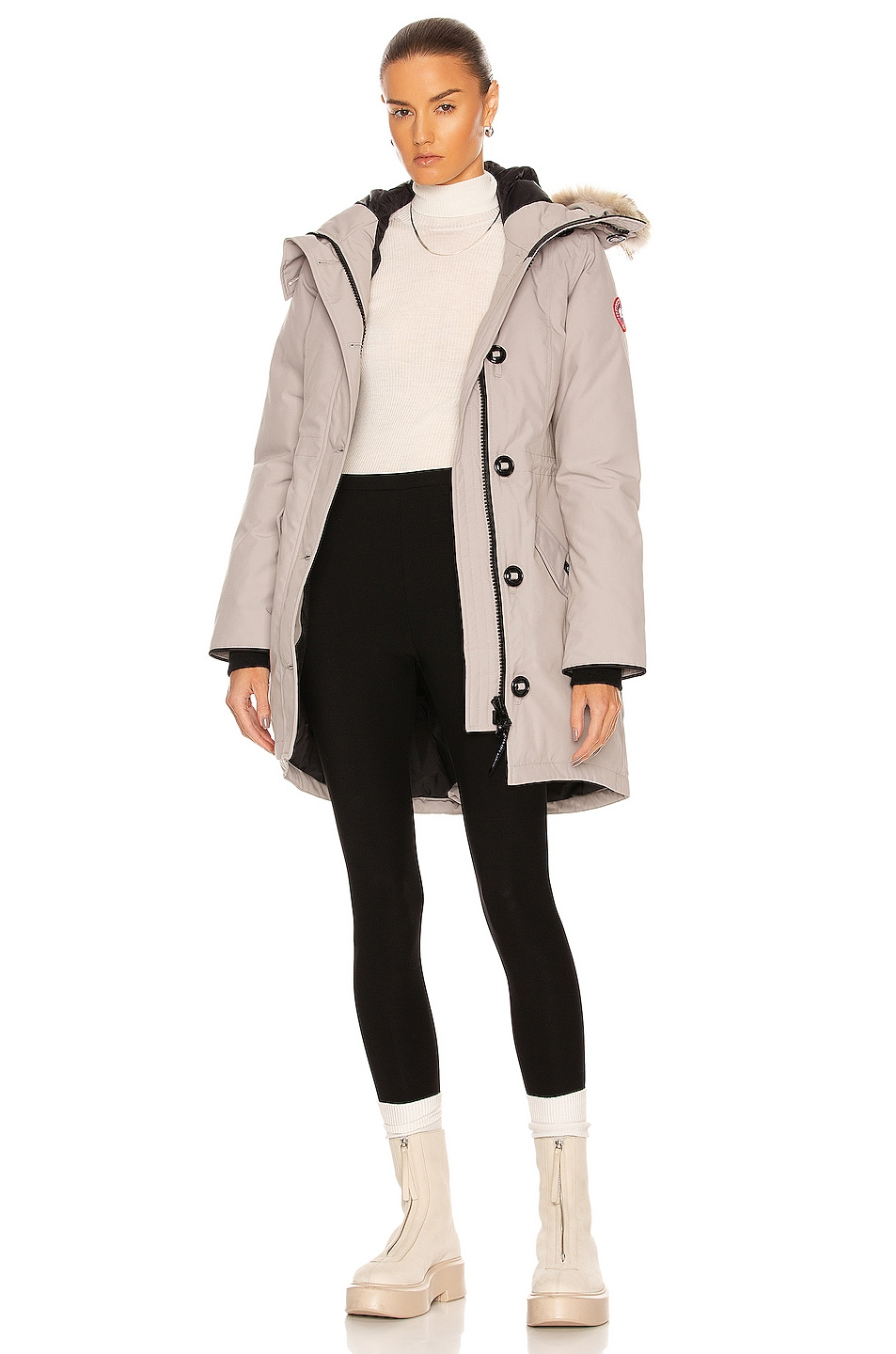 Image 1 of Canada Goose Rossclair Parka in Limestone