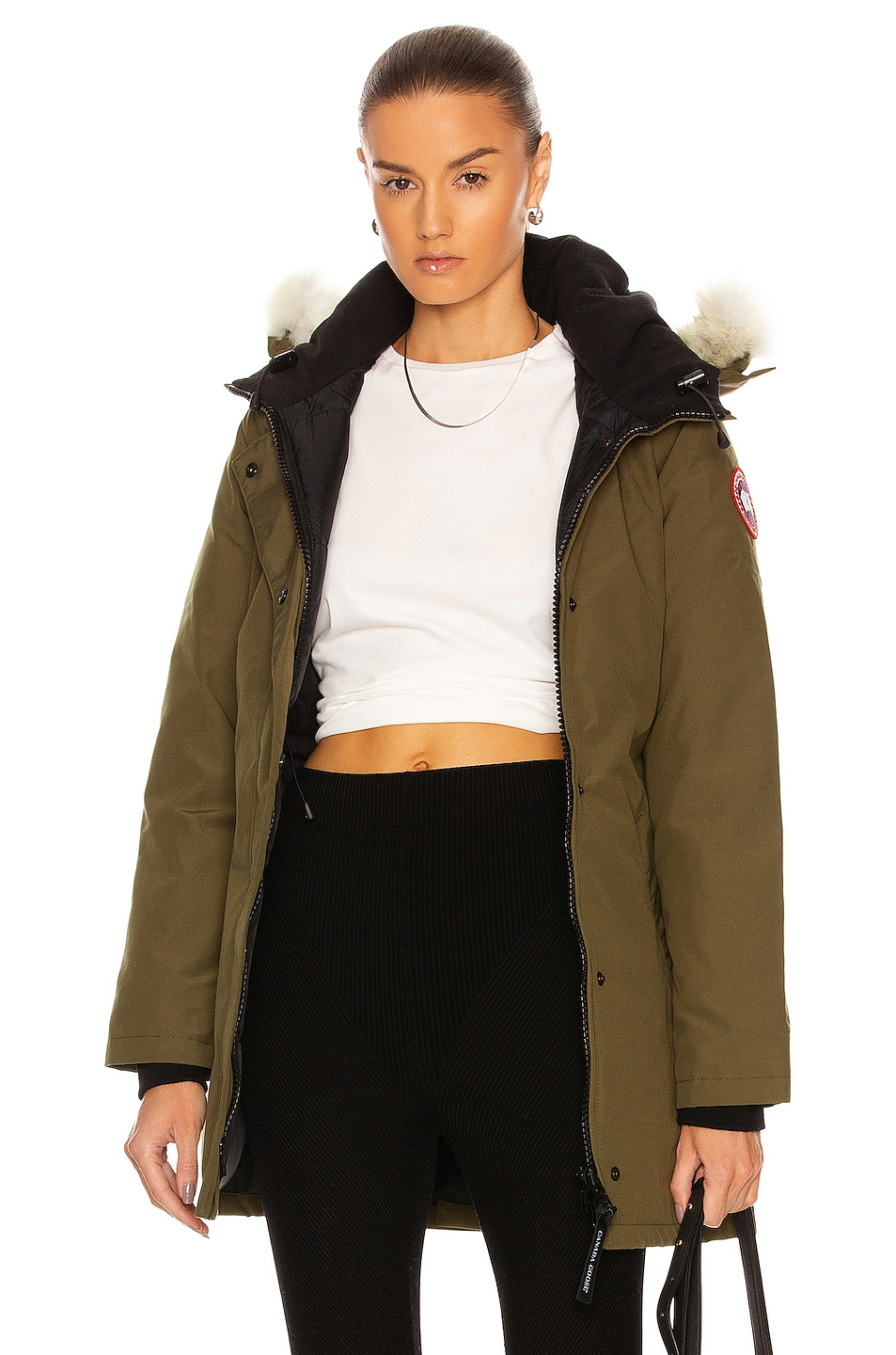 Image 1 of Canada Goose Victoria Parka in Military Green