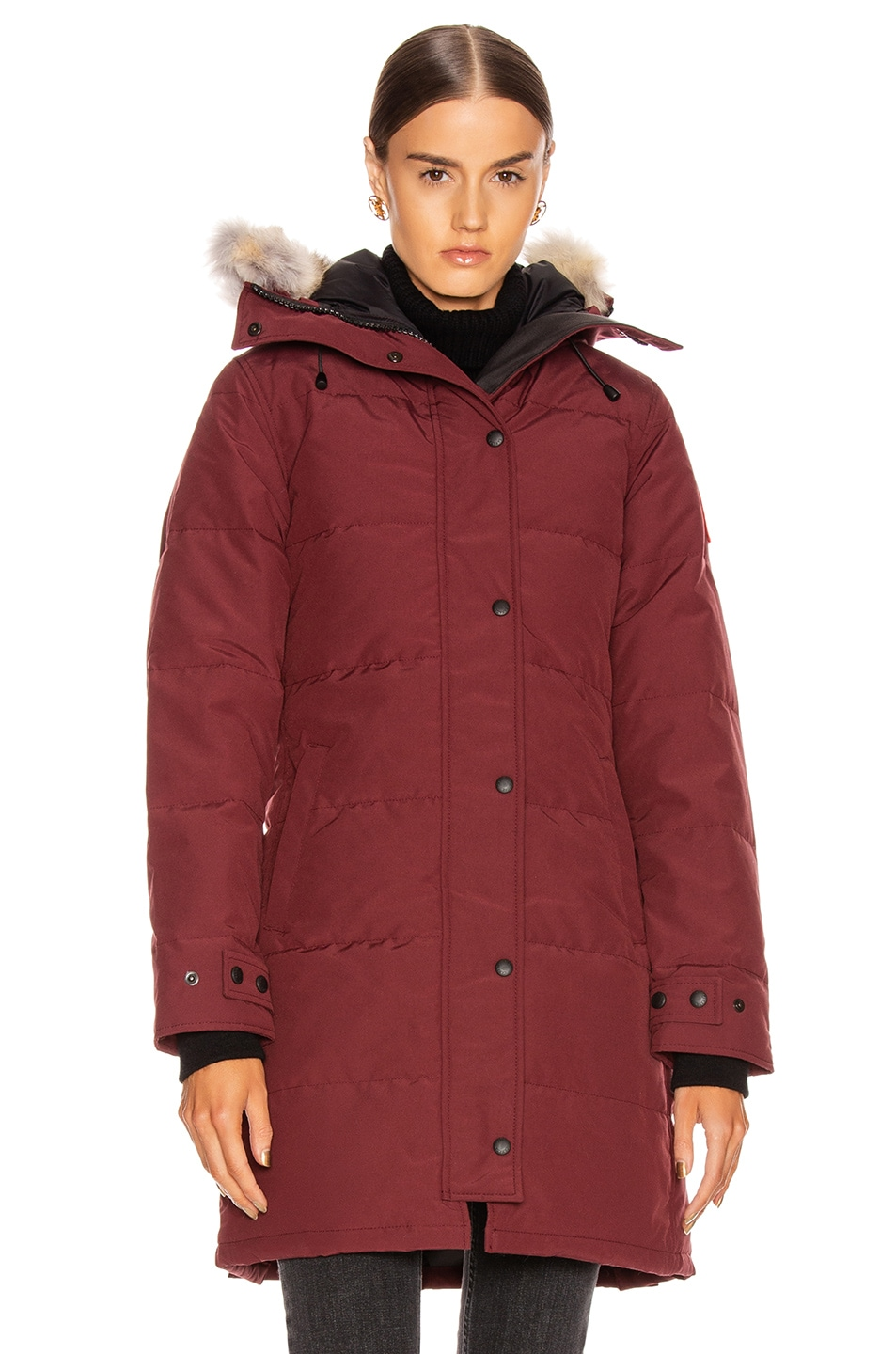 Image 2 of Canada Goose Shelburne Parka with Coyote Fur in Elderberry