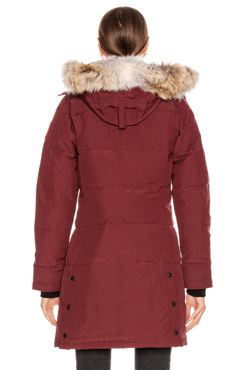 Image 5 of Canada Goose Shelburne Parka with Coyote Fur in Elderberry