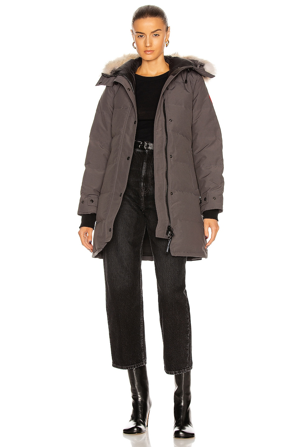 Image 1 of Canada Goose Shelburne Parka with Coyote Fur in Graphite