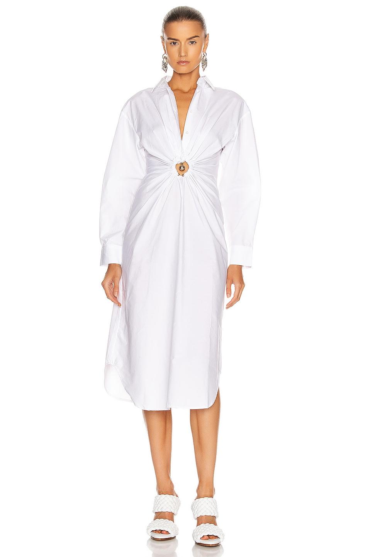 Image 1 of Christopher Esber Pierced Shirt Dress in White