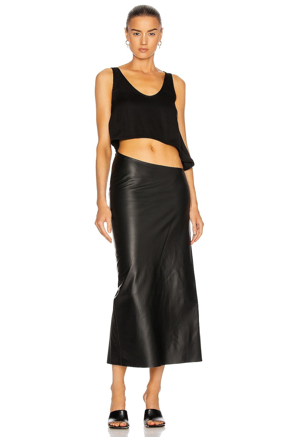 Image 1 of Christopher Esber Connected Tank to Skirt Dress in Black