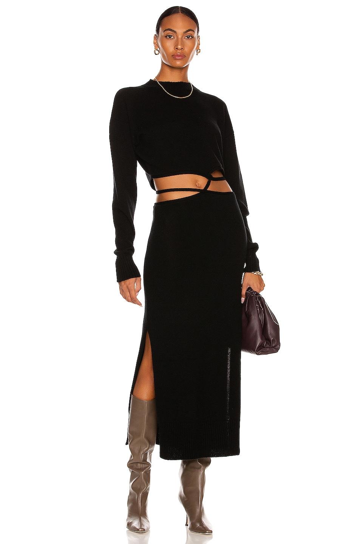 Image 1 of Christopher Esber Knit Tie Sweater Dress in Black