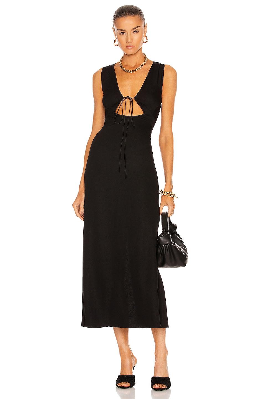 Image 1 of Christopher Esber Bertoia Bias Slip Dress in Black