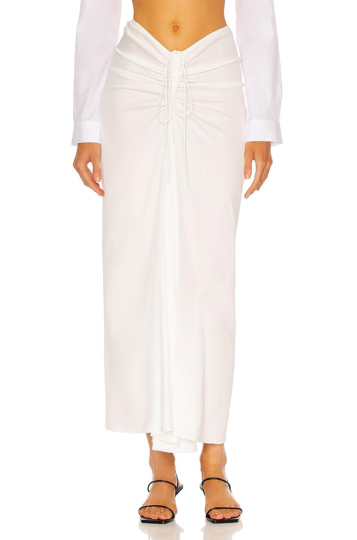 Image 1 of Christopher Esber Ruched Skirt in Natural