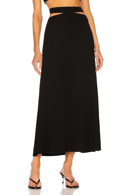 Image 1 of Christopher Esber Multi Bind Curve Midi Skirt in Black