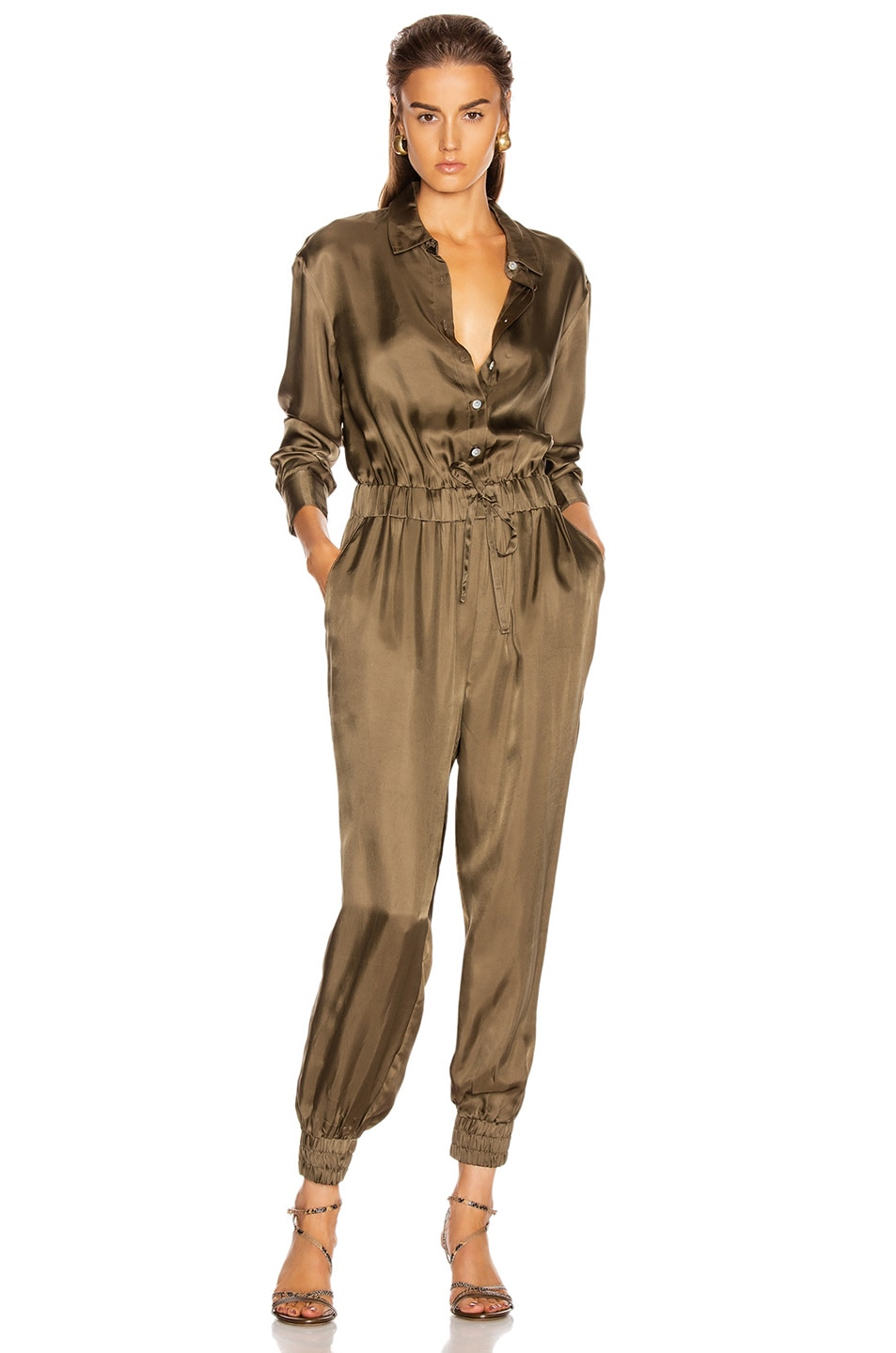 Image 1 of Cinq a Sept Joyce Jumpsuit in Olive