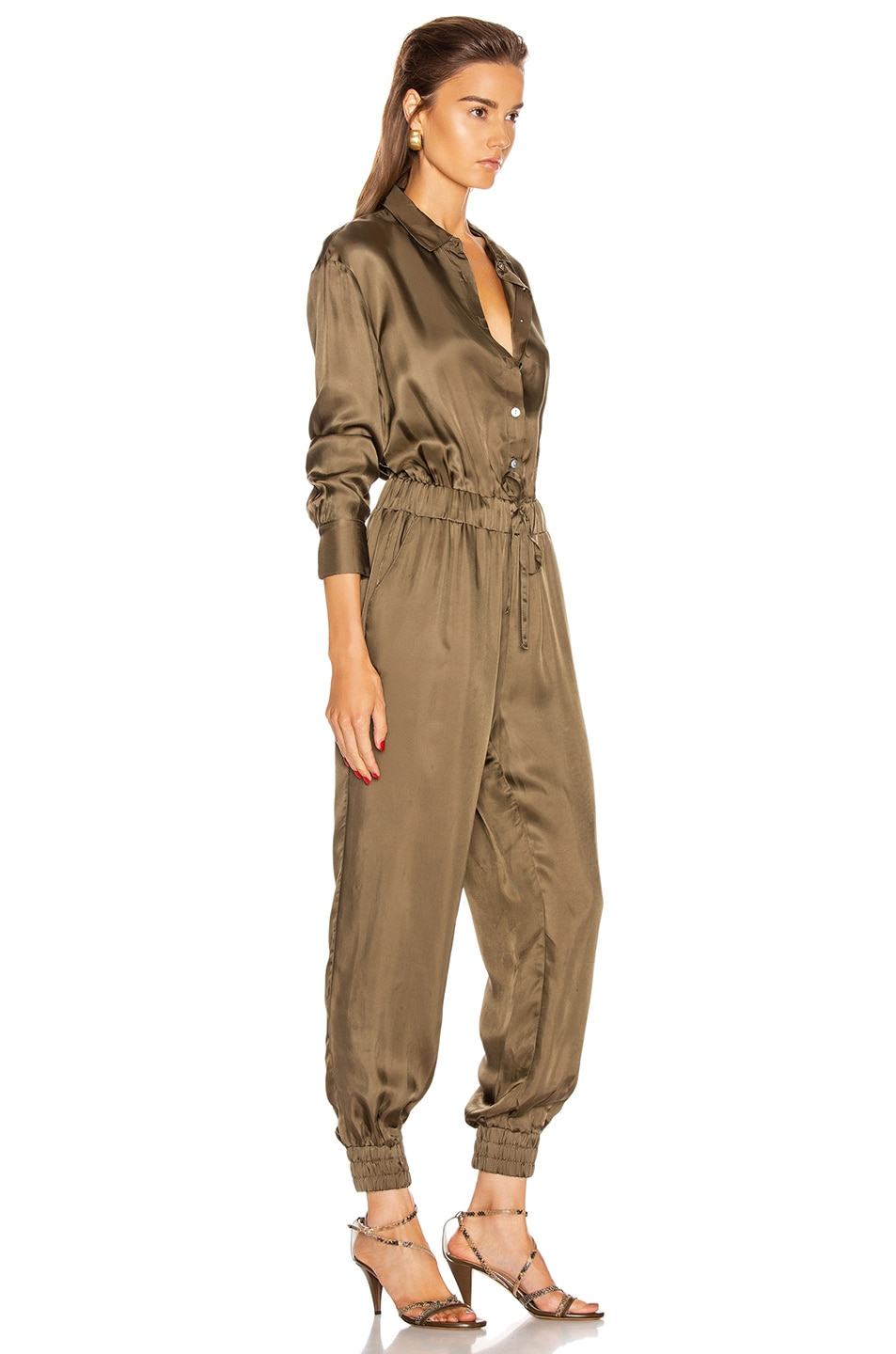 Image 2 of Cinq a Sept Joyce Jumpsuit in Olive