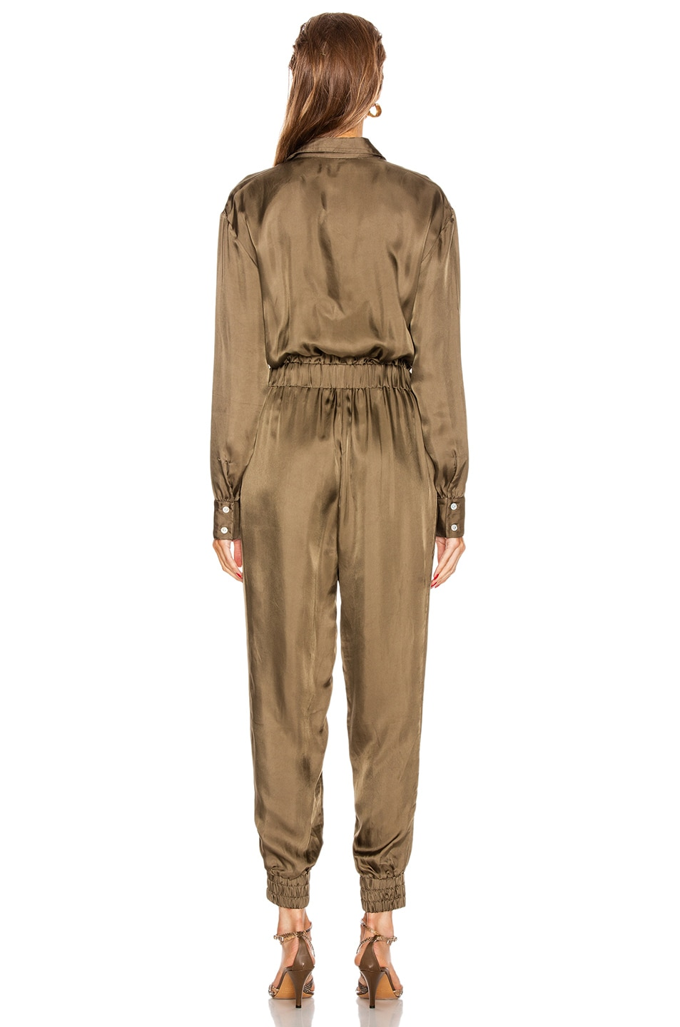 Image 3 of Cinq a Sept Joyce Jumpsuit in Olive