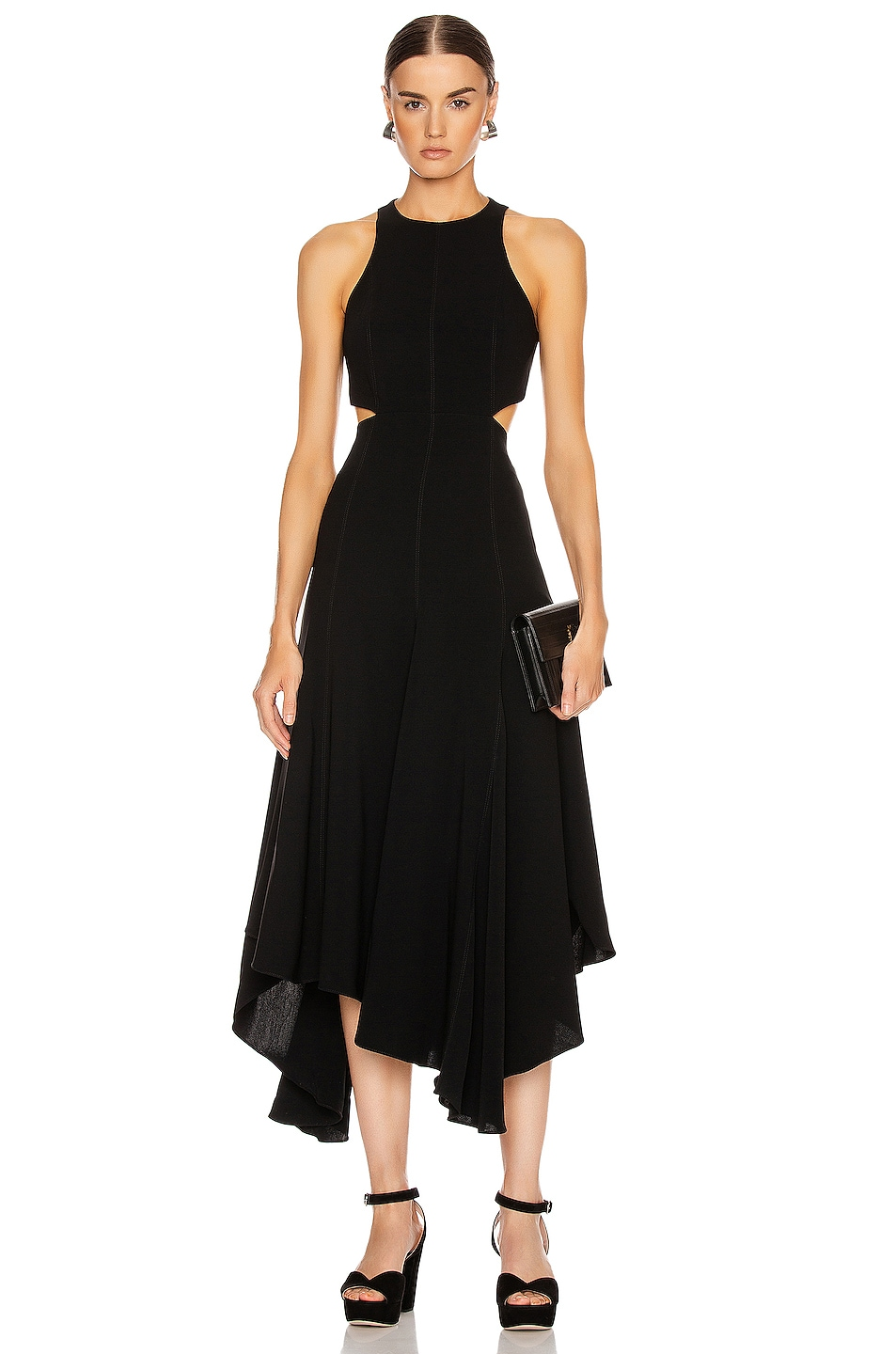 Image 1 of Cinq a Sept Belladonna Dress in Black