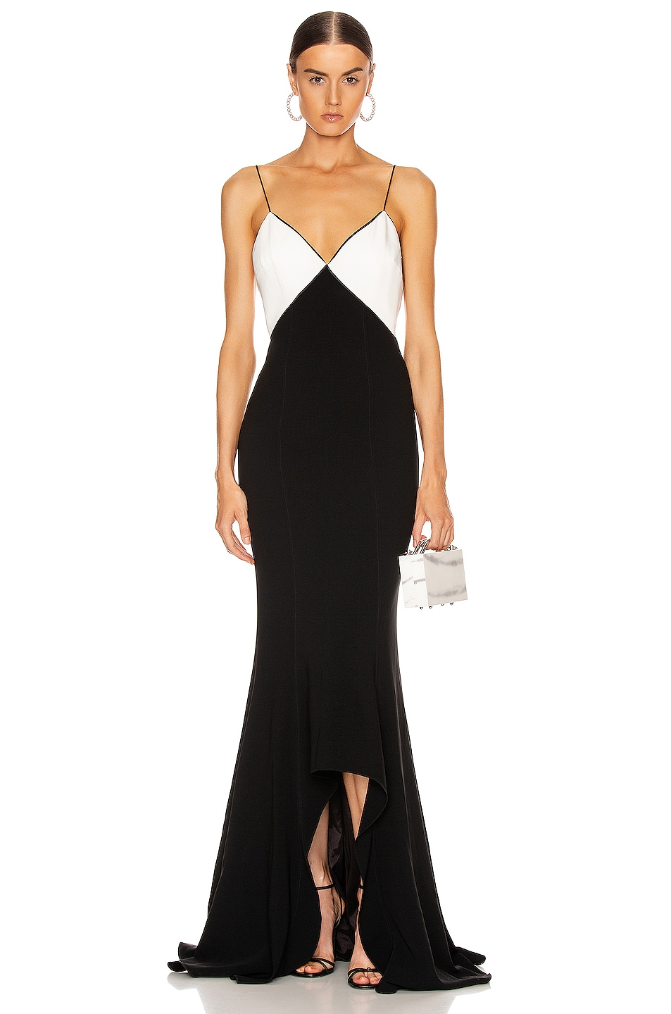 Image 1 of Cinq a Sept Kimia Gown in Black & Ivory