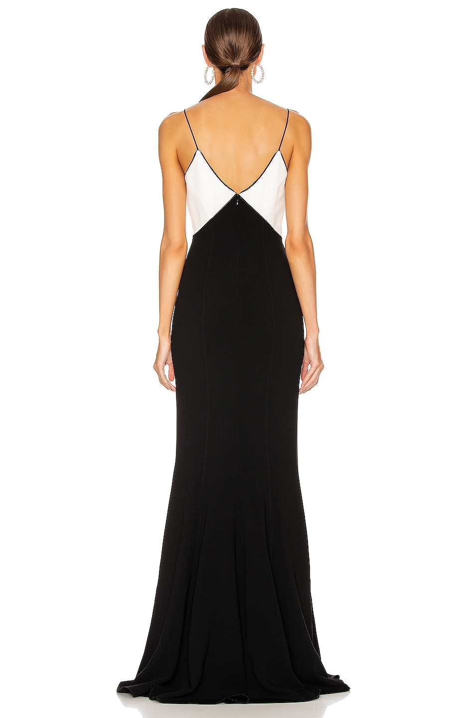 Image 3 of Cinq a Sept Kimia Gown in Black & Ivory