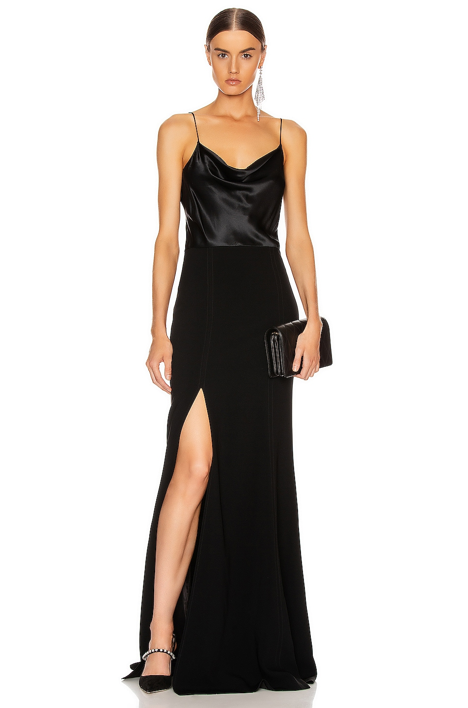 Image 1 of Cinq a Sept Ana Gown in Black