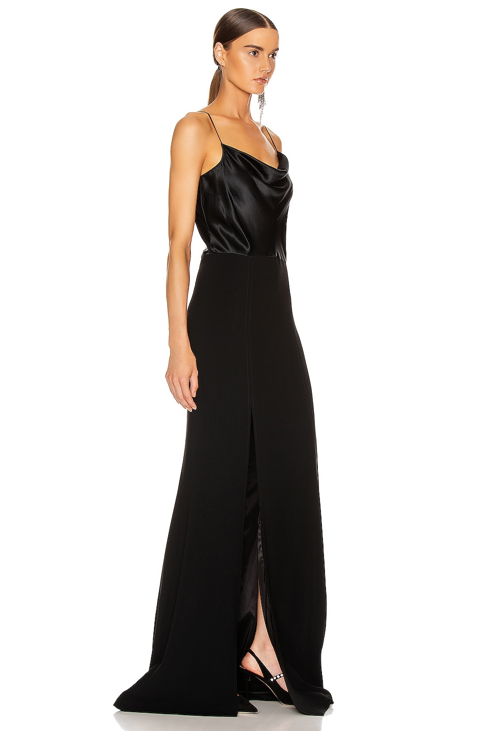 Image 2 of Cinq a Sept Ana Gown in Black