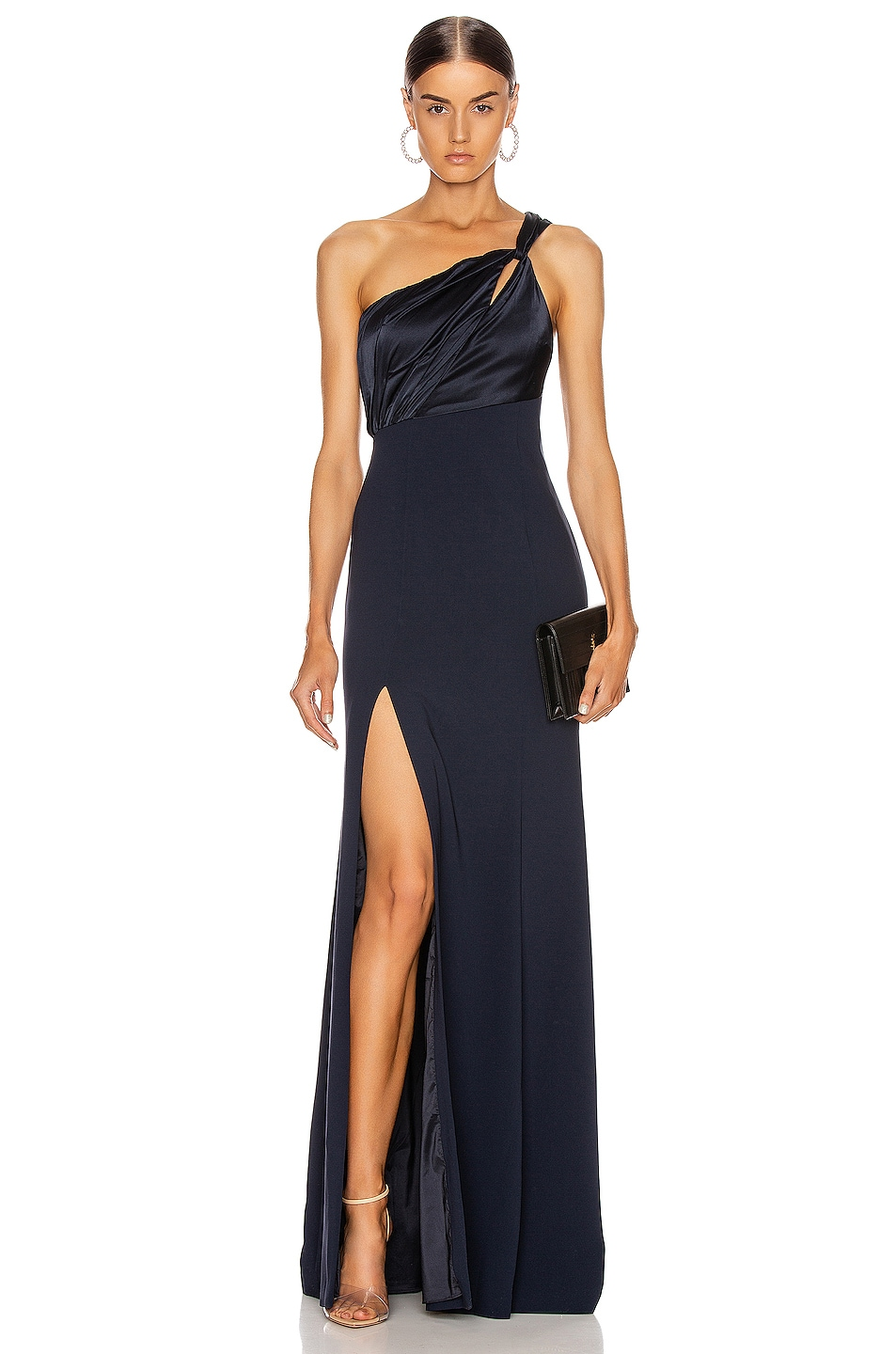 Image 1 of Cinq a Sept Faye Gown in Navy