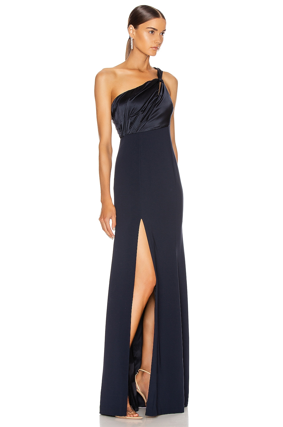 Image 2 of Cinq a Sept Faye Gown in Navy