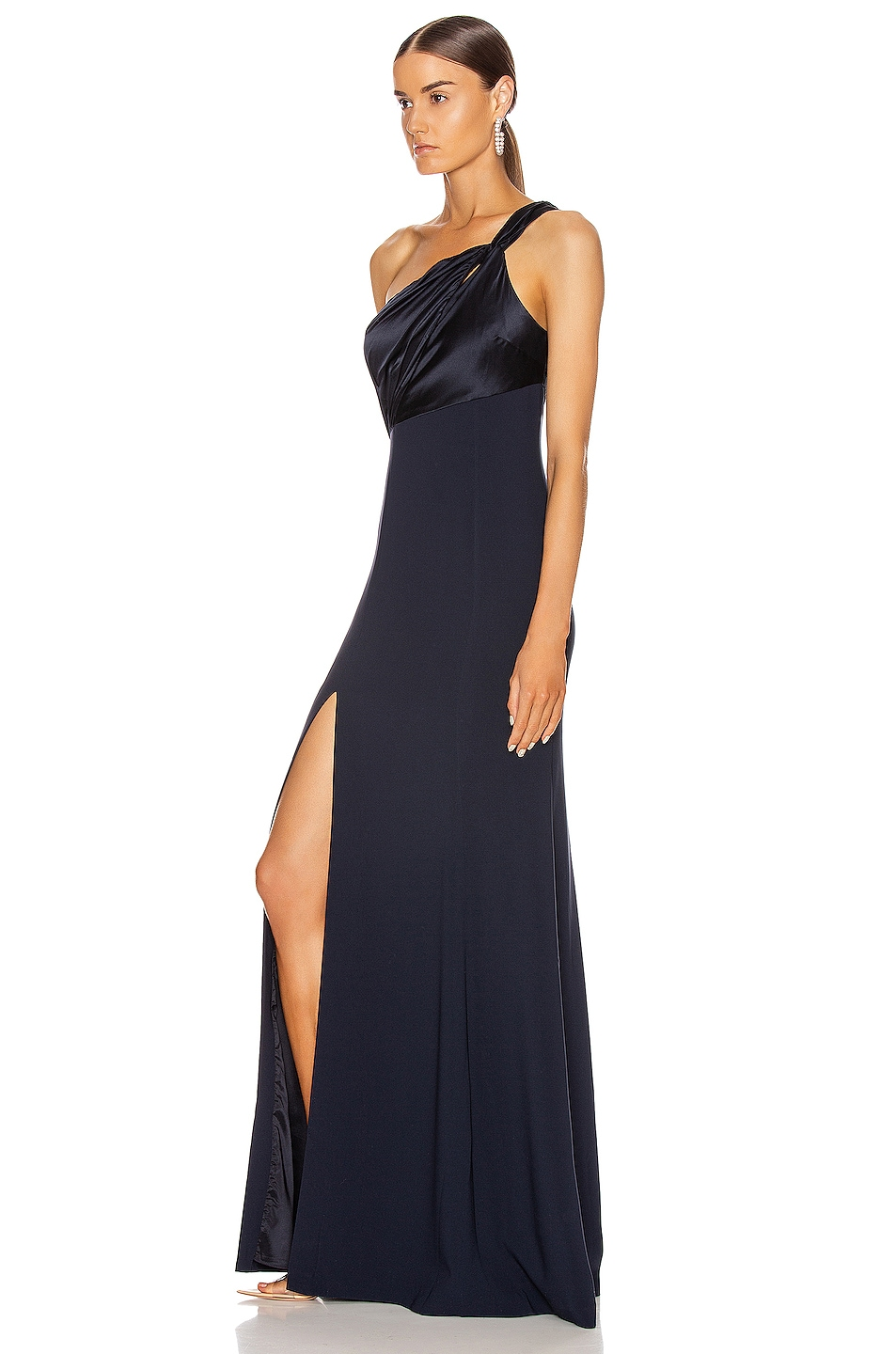 Image 3 of Cinq a Sept Faye Gown in Navy
