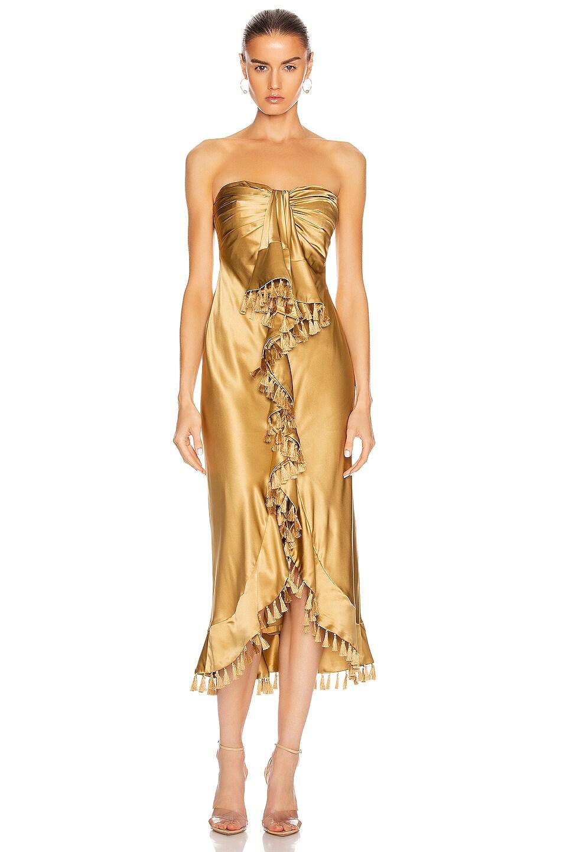 Image 1 of Cinq a Sept Elise Dress in Gold