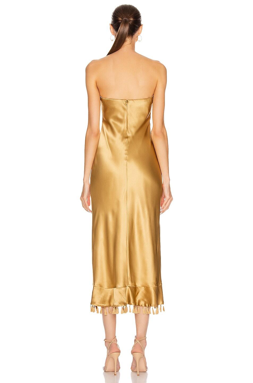 Image 3 of Cinq a Sept Elise Dress in Gold