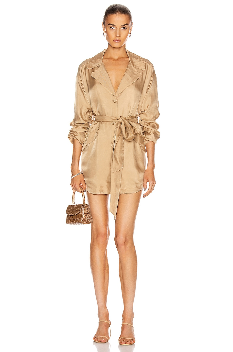 Image 1 of Cinq a Sept Kiera Dress in Gold