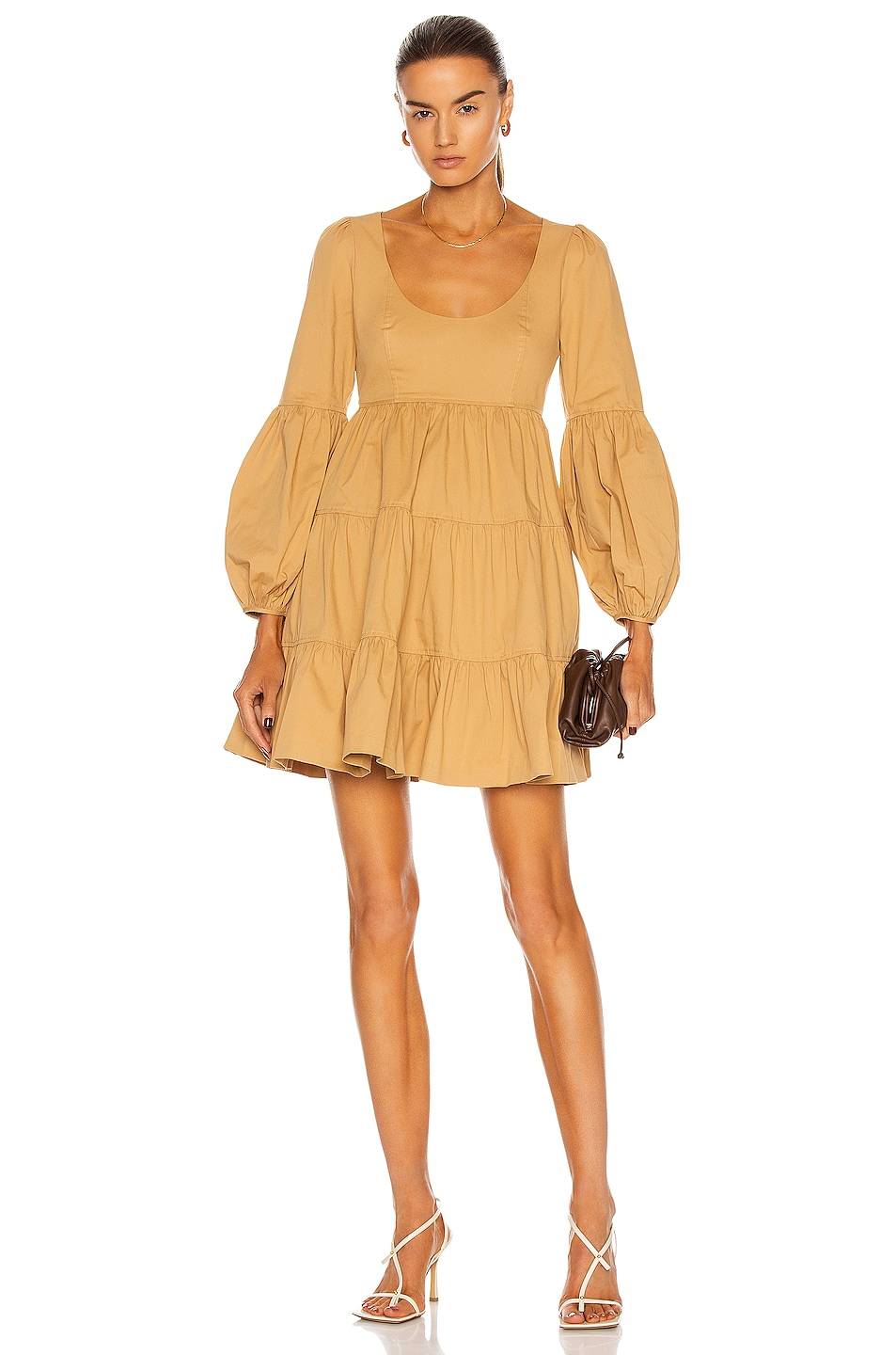 Image 1 of Cinq a Sept Rose Dress in Gold