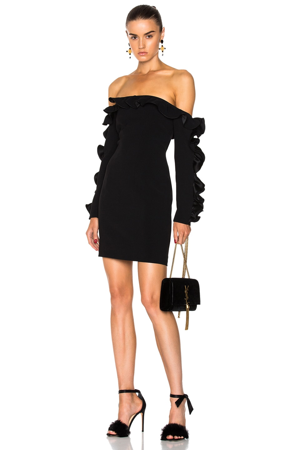 Image 1 of Cinq a Sept Rosemarie Dress in Black