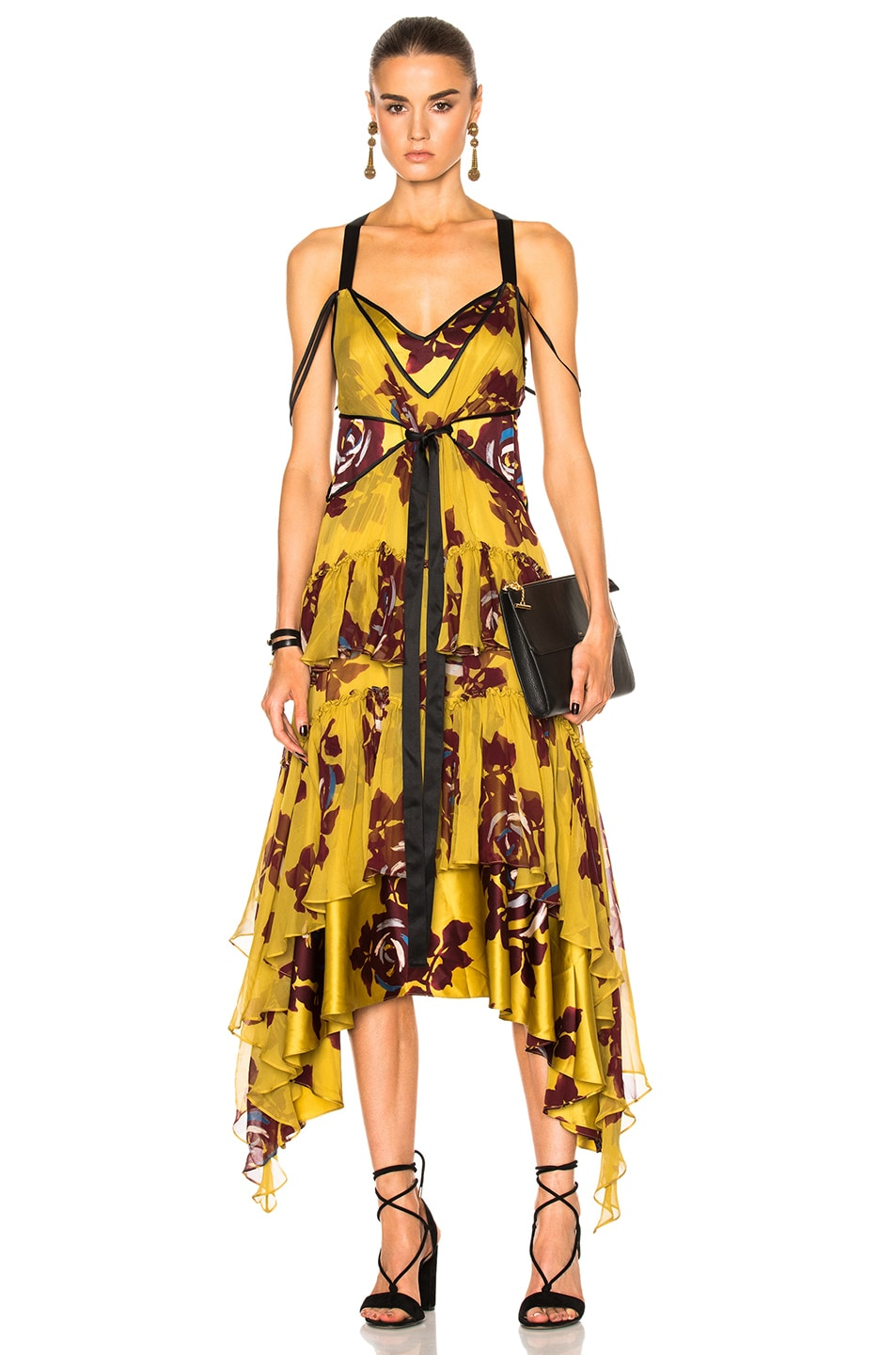 6ee1e7ed640 Image 1 of Cinq a Sept Sable Dress in Chartreuse Multi