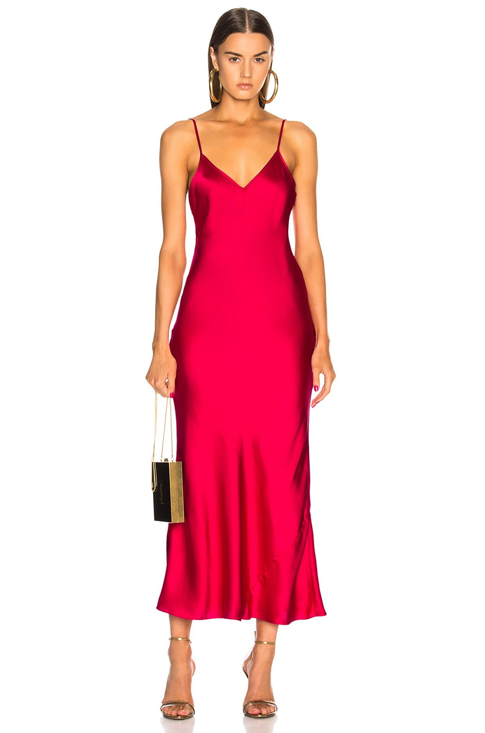 5cd3e3f079f Image 1 of Cinq a Sept Solid Emmalyn Dress in Camilla Red