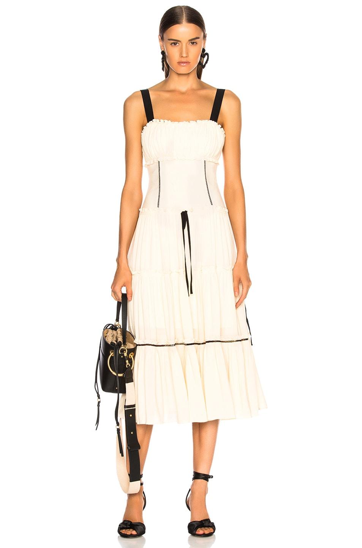 Image 1 of Cinq a Sept Jessa Dress in Gardenia & Black