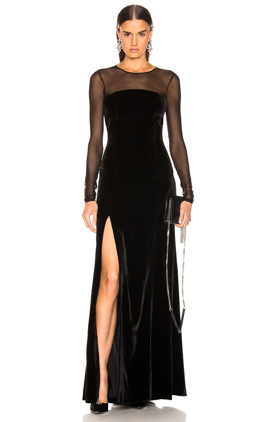Image 1 of Cinq a Sept Isadora Gown in Black