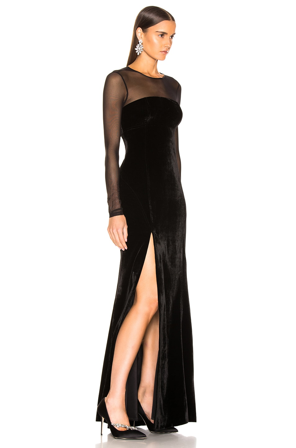 Image 2 of Cinq a Sept Isadora Gown in Black