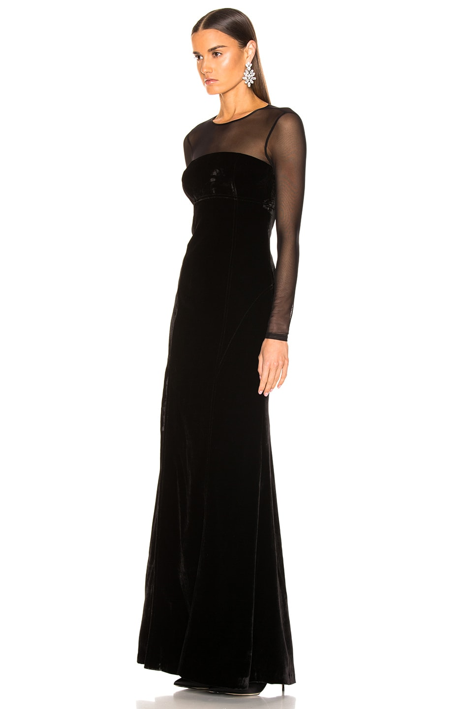 Image 3 of Cinq a Sept Isadora Gown in Black