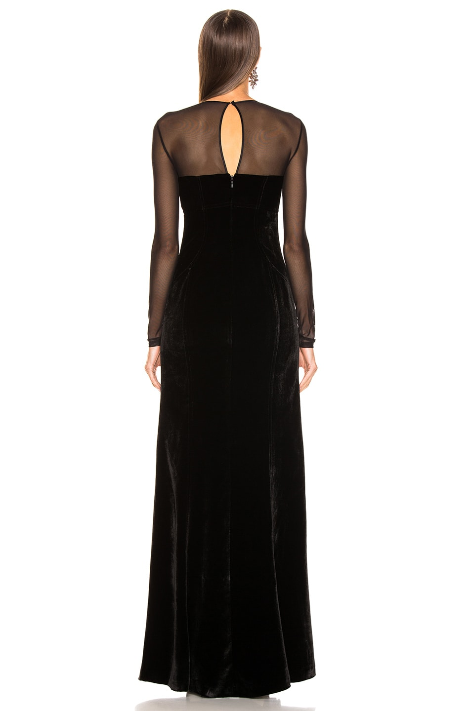 Image 4 of Cinq a Sept Isadora Gown in Black