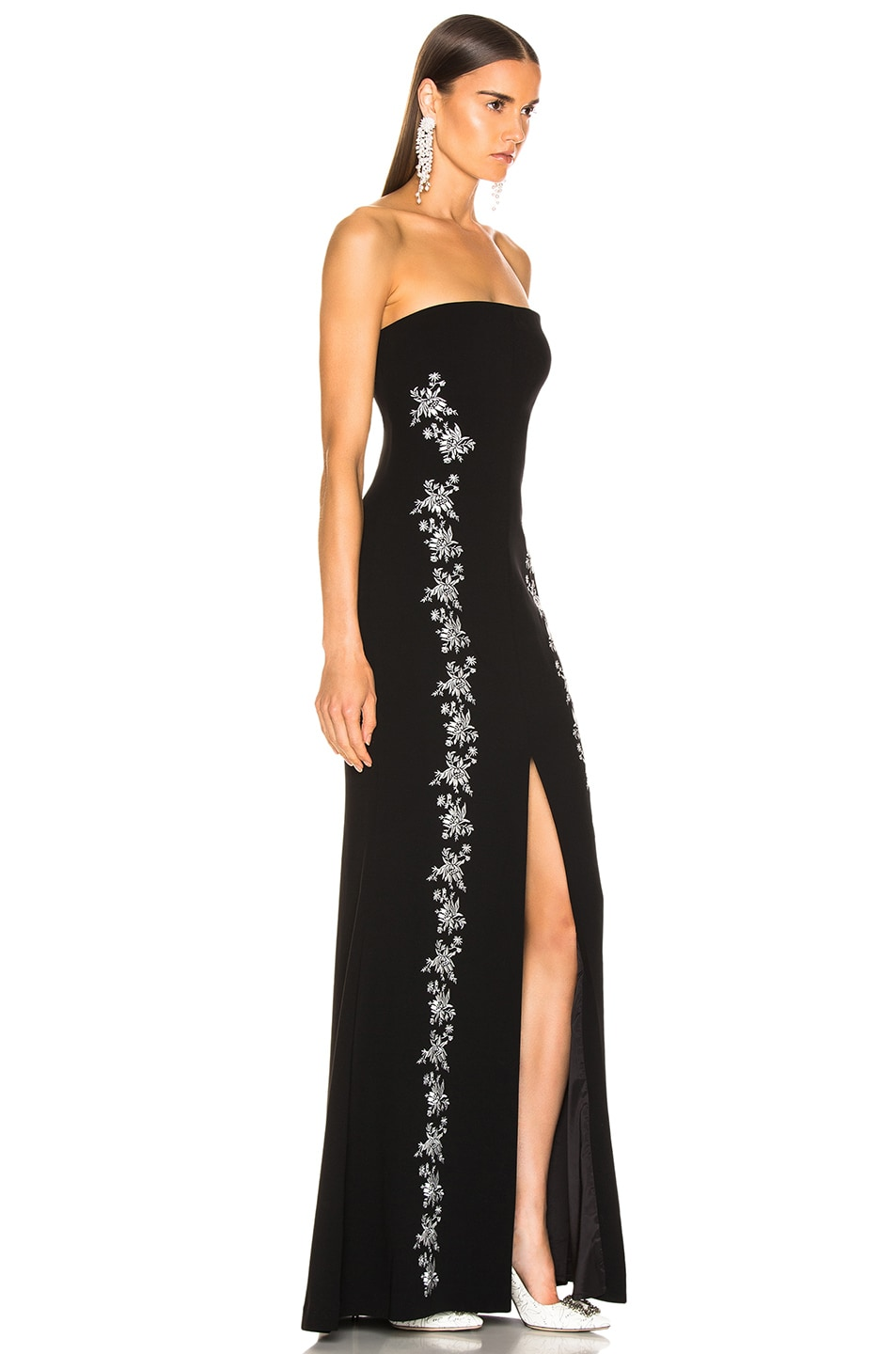 Image 2 of Cinq a Sept Eva Gown in Black & Ivory