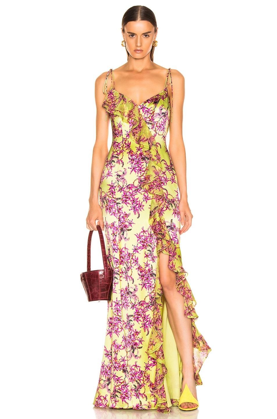 Image 1 of Cinq a Sept Velma Gown in Lemon Grass Multi